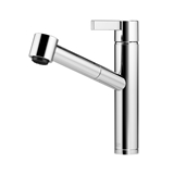 Single-lever mixer with pull-out spout with spray function - platinum matte 33875760-060010 Dornbracht