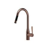 Single-lever mixer pull-down with spray function - Dark Bronze matte 33870895-170010 Dornbracht