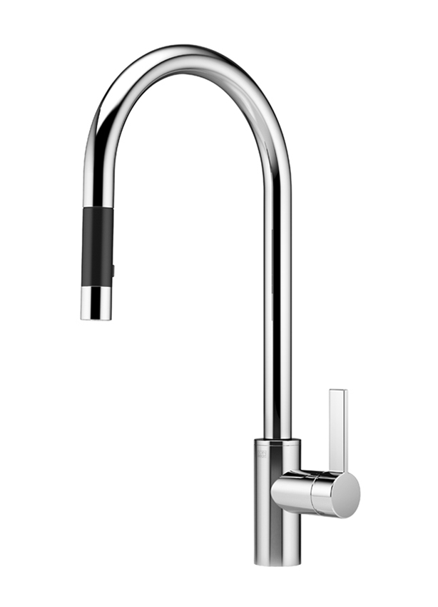 Single-lever mixer pull-down with spray function - polished chrome 33 870 875-00 0010 Dornbracht