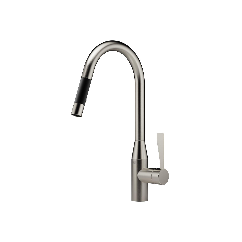 Single-lever mixer pull-down with spray function - platinum matte 33 870 895-06 0010 Dornbracht